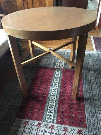 Stol okragly artdeco obiadowy jadalniany drewniany