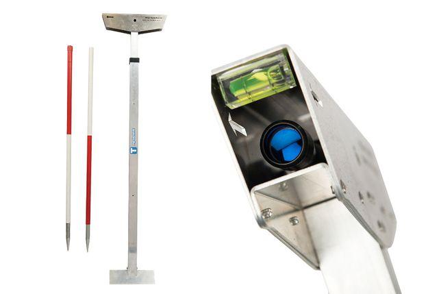 Luneta z tyczką, celownik, kretoskop do namierzania przecisku, kret