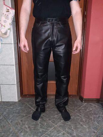 Spodnie skórzane motocyklowe r. 48