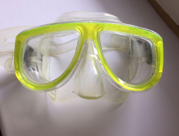 маска трубка для ныряния плавания