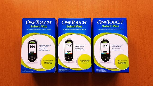 One Touch Select Plus Glukometr + Paski testowe i Opaska Gratis ! Nowy