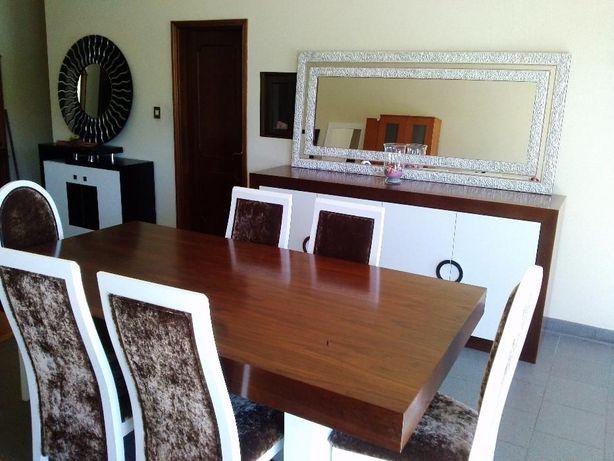 Sala de Jantar em Nogueira/Lacado Branco (Art. Novo)