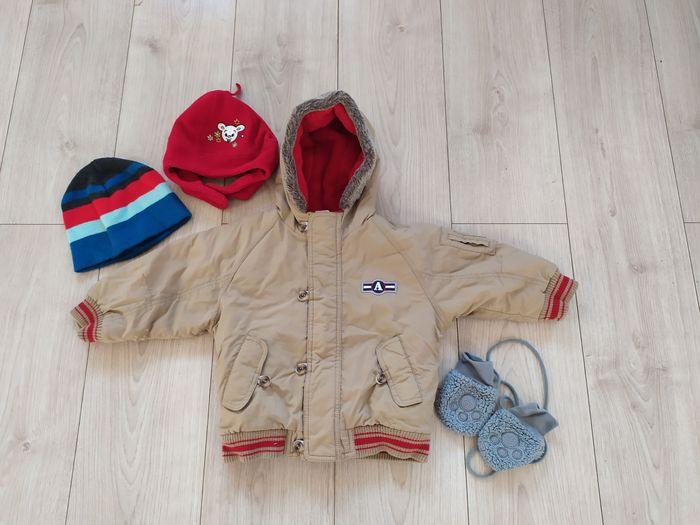 Ciepła kurtka zimowa na mrozy, czapki, rękawiczki + nowe buciki 2 Kowale - image 1