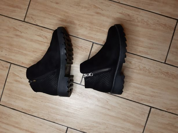 Демі черевики, натуральна замша