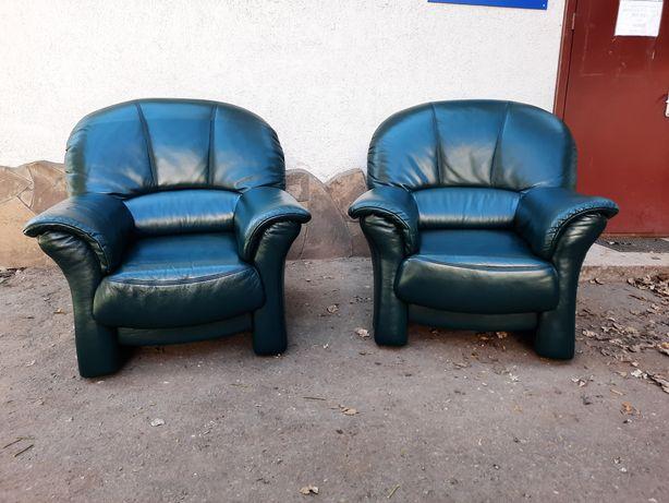 Шкіряні крісла 2шт. Шкіряні меблі Кожаная мебель Гарнітур