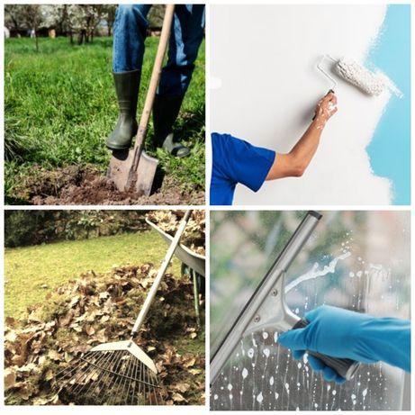 Уборка территории, земельные и другие работы.