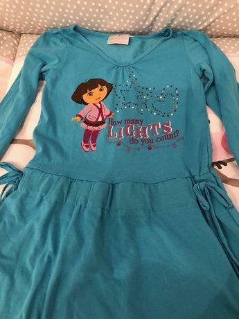 Sukienka dziewczęca bawełniana - 5-6 lat