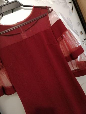 Крутое красное платье