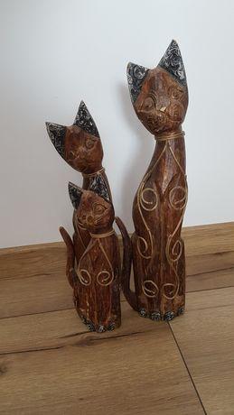 Koty z drewna wysokość:50,40,30cm
