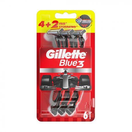 Gillette Blue 3 Red Nitro Нові! 6 Cтанків чоловічих по ціні 4-х.