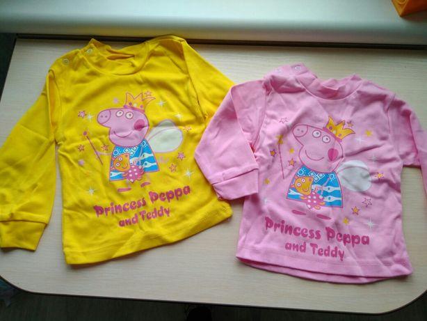 Свинка Пеппа кофта свитер реглан худи на девочку новый 18-24 месяцев