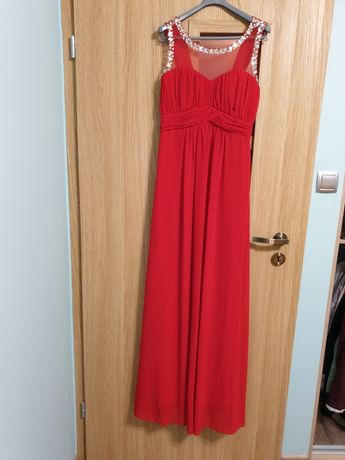 Suknia długa czerwona rozmiar 40
