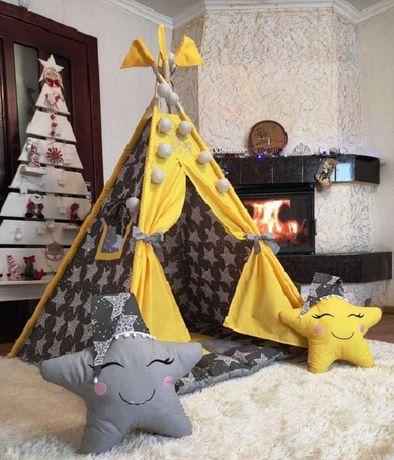 Вигвам палатка детская НОВИНКА матрас бонбон халабуда шалаш