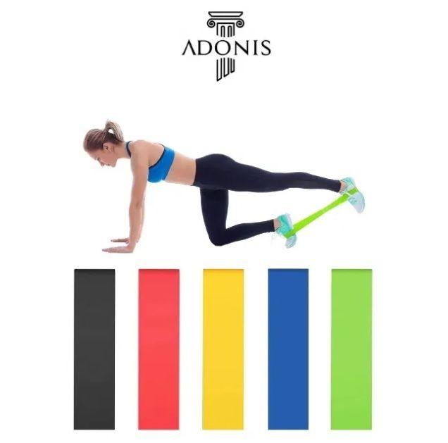 Bandas Resistência Fitness Yoga Pilates Elásticos Musculação Ginásio