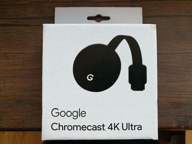 Chromecast 4K Ultra UHD HDR jak nowy
