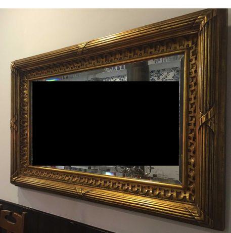 Espelho antigo totalmente original (1,6mX1m)
