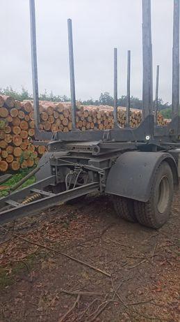 Przyczepa do drewna do lasu do drzewa