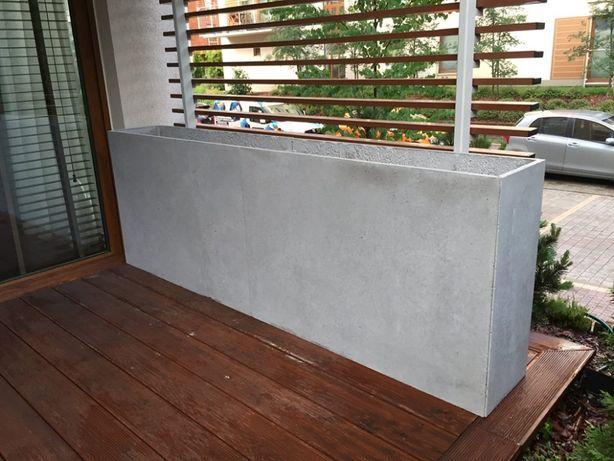 Donice z betonu architektonicznego na wymiar - 140x25x50h