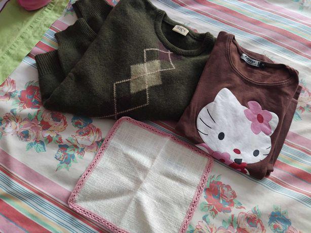 Naperon c/renda de crochet c/oferta 2 camisolas S