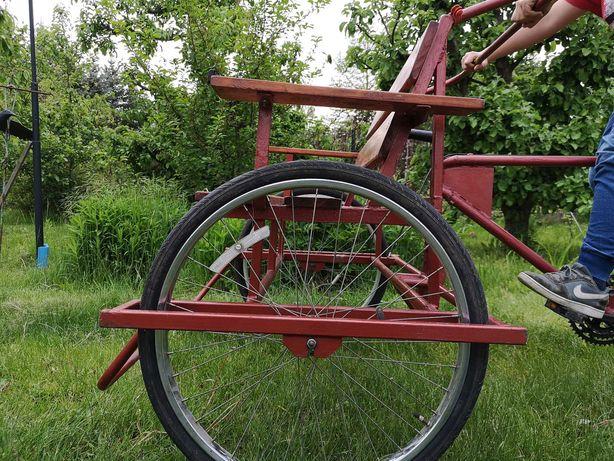 Ryksza, riksza, rower trójkołowy, 2 osoby +kierowca