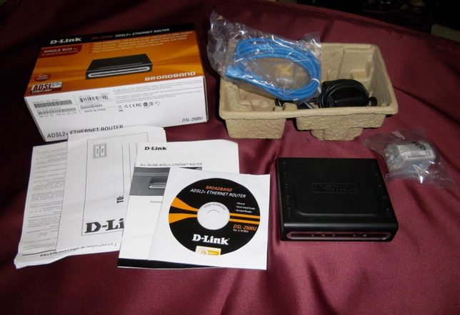 Модем D-Link DSL-2500U ADSL-2 +enternet router