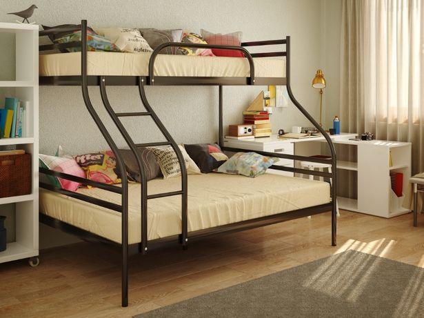 Двухъярусная металлическая кровать Smart Смарт. Бесплатная доставка НП