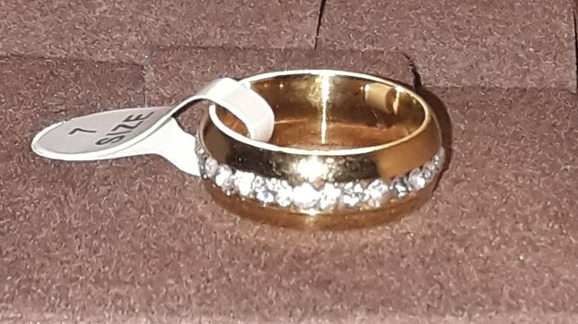 Pierścionek obrączka złota NOWA na prezent