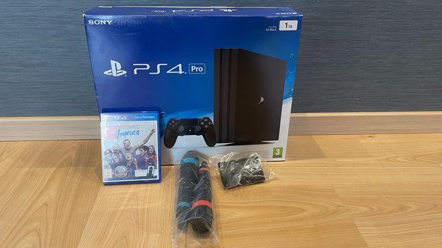 Sony Playstation 4 PRO 1TB + mikrofony + gra