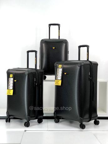 Дорожный противоударный чемодан CAT Hexagon. Валіза сумка на колесах