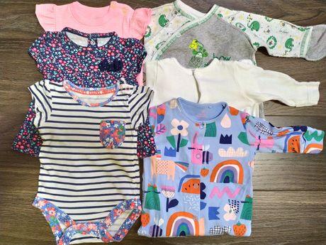 Пакет вещей 0-3 месяца, одежда для новорожденных, боди, слип