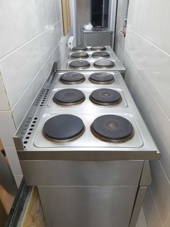 2 sprawne kuchnie elektryczne marki Hendi z 6 cioma polami