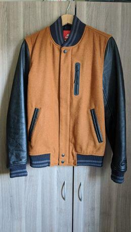 Kurtka Nike Destroyer Jacket skórzana wełniana Rozm. S