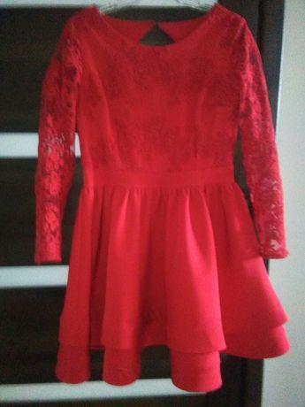 sukienka koronka falbanki studniówka j. lou