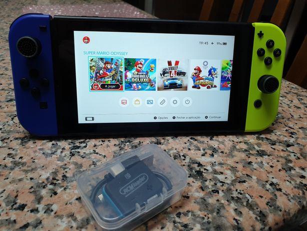 Nintendo Switch desbloqueado 128GB rara