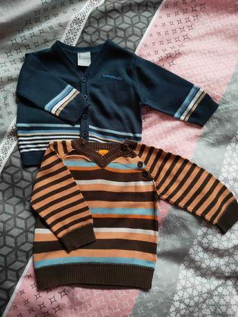 2 sweterki chłopięce rozm. 74 i 86
