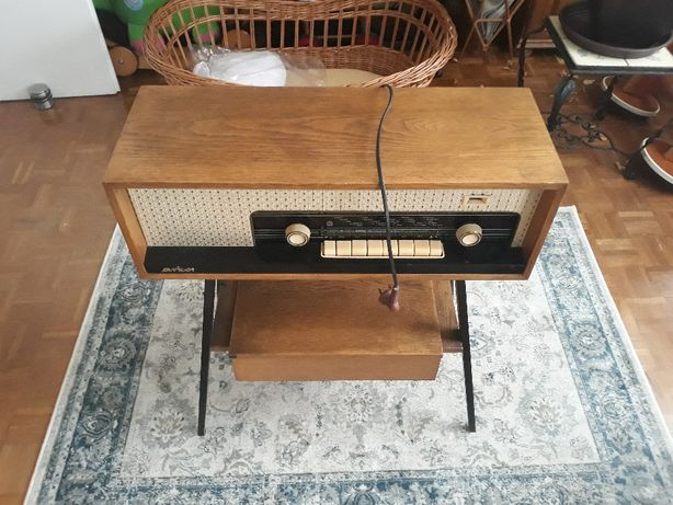 Arkona 3211 unikat, radio lampowe, gramofon adapter PRL, zamiana