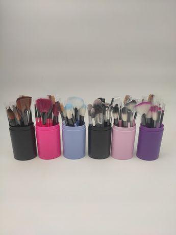 Кисти для макияжа, набор, 12 штук, тубус, makeup, подарок девушке.