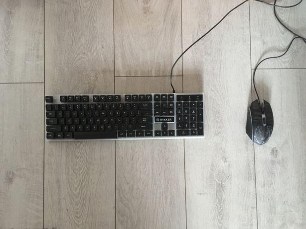 Zestaw gamingowy klawiatura i myszka Hykker