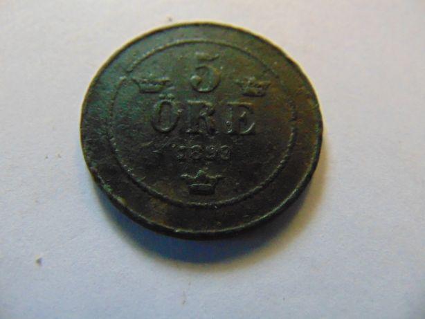 5 0re szwedzkie 1899,1907