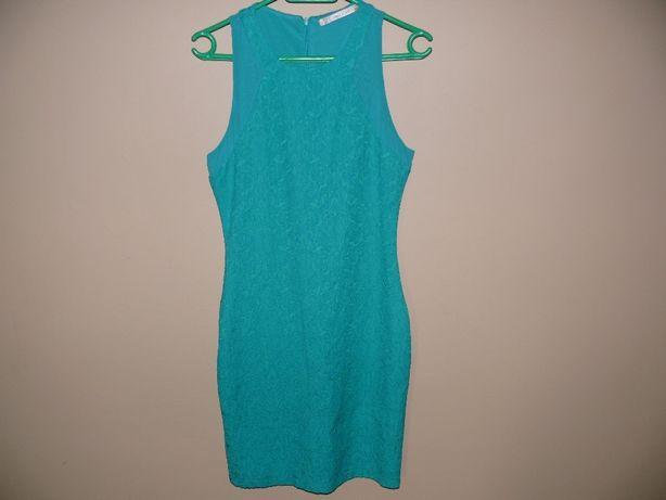 Zielona sukienka Zara r. XS