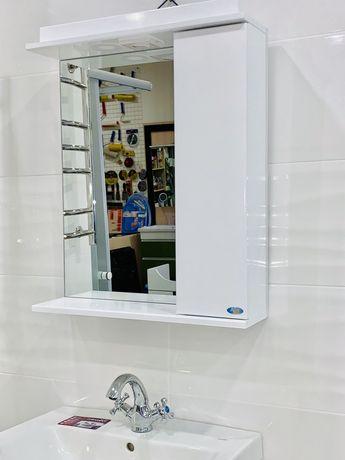 Зеркало 50 см со шкафчиком для ванной комнаты .Бесплатная достав.
