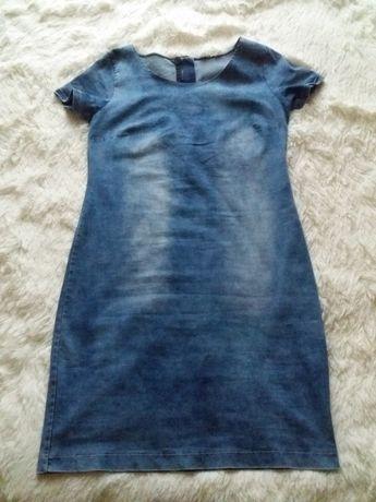 dżinsowa sukienka L