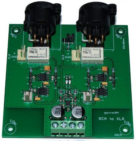 Konwerter RCA na XLR , symetryzator