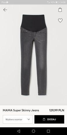 Spodnie ciążowe r. 36 H&M Mama Super Skinny Jeans