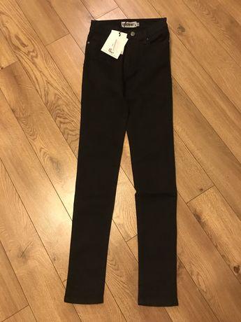Nowe czarne spodnie jeansowe rurki  Roz.34