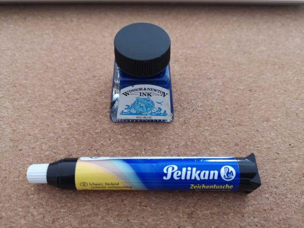 Tinta da China azul e preta
