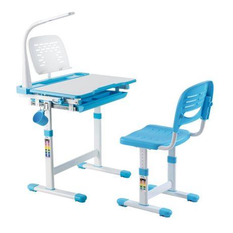 BIURKO z krzesełkiem DLA DZIECKA regulowane FUNDESK Cantre BLUE