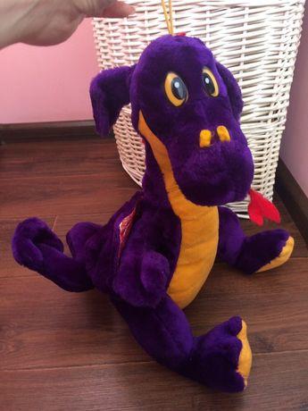 Мягкая игрушка дракон с блестящими крыльями