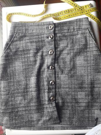 Стильная осенняя юбка высокой посадки
