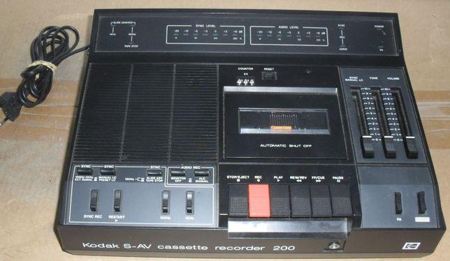 Gravador/leitor de cassetes audio da Kodak S-AV 200